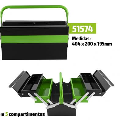 CAIXA DE FERRAMENTAS JBM COM 5 COMPARTIMENTOS 51574