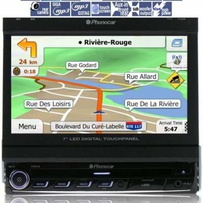 Phonocar Ecrã motorizado de 7 polegadas, DVD, Bluetooth, USB, entrada câmera traseira, VM044