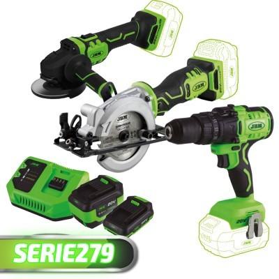 Rebarbadora + Broca de Impacto + Mini Serra + 2 Baterias + Carregador SERIE279