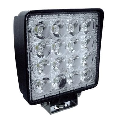 FAROL DE TRABALHO COM 16 LEDS 48W QUADRADO DE LUZ DISPERSA 53045