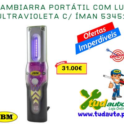 GAMBIARRA PORTÁTIL COM LUZ ULTRAVIOLETA C/ ÍMAN 53451