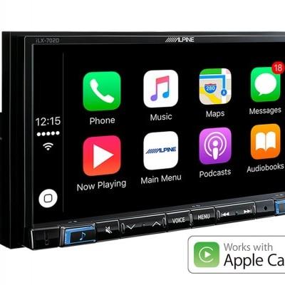 "Cópia de Sistema Multimédia Alpine de 7"" com Apple CarPlay e Android Auto - iLX-702D"