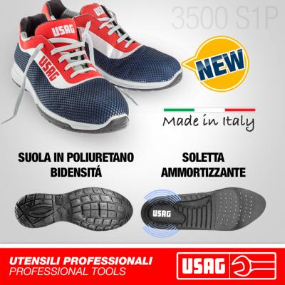 Sapatos de segurança USAG com parte superior respirável 3500 S1P