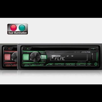 CDE-201R Alpine Auto-Radio Dupla Iluminação Vermelho/Verde 4 X 50W