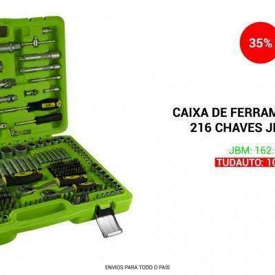CAIXA DE FERRAMENTAS COM 216 CHAVES JBM 53730