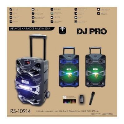Trolley de Som Bluetooth Sami DJ Pro Microfone e Luzes Sem Fios Karaoke RS-10914