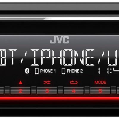 Autorrádio JVC CD com Amazon Alexa / Bluetooth / USB / Spotify KD-T812BT