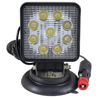FAROL AUXILIAR LED, QUADRADO, LUZ CONCENTRADA, BASE MAGNÉTICA 52568