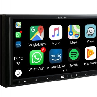 "Sistema Multimédia Alpine de 7"" com CarPlay Apple e Android Auto iLX-W650BT"