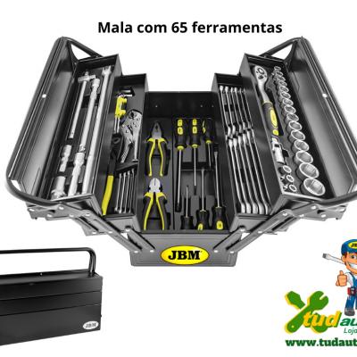 CAIXA METALICA JBM COM 64 FERRAMENTAS 53565
