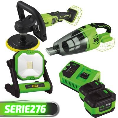 Polidora + Aspirador + Farol de Trabalho + 2 Baterias + Carregador SERIE276