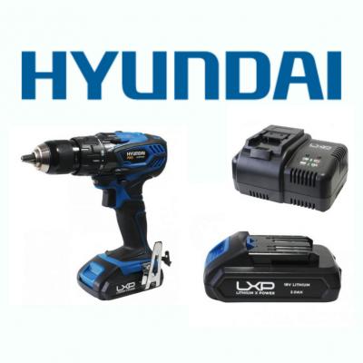 Berbequim Aparafusadora 18V Hyundai + Bateria + Carregador