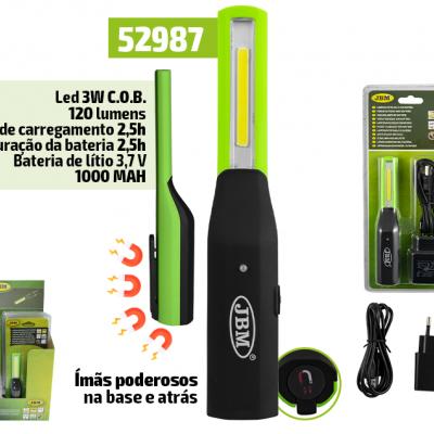 LANTERNA JBM DE BOLSO LED COM BATERIA 52987
