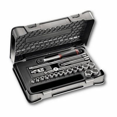 """Jogo chaves de caixa sextavadas em caixa ABS 20 Peças USAG 605 3/8"""" EA"""