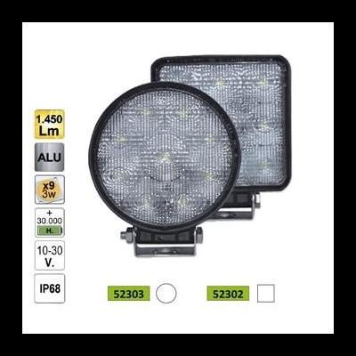FAROL AUXILIAR LED REDONDO 27W 10-30V 52303