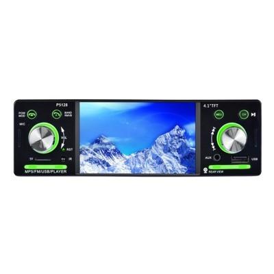 """Auto Radio Bluetooth - Reprodução de música - Porta USB 2.0 - Slot para MicroSD - Reprodução de vídeo - Rádio FM - Ecrã 4.1"""" P5128"""