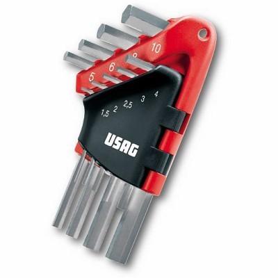 Jogo de 9 chaves HK angolares sextavadas USAG 280 S9 U280S9