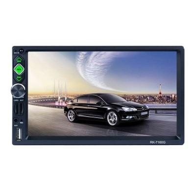 Auto-Rádio 2 DIN Bluetooth/Link de espelho/USB/Micro SD/Controle remoto RK-7160G
