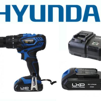 Berbequim c/ Percussão 18V Hyundai + Bateria + Carregador