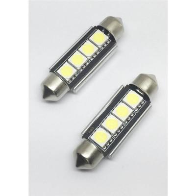 KIT LÂMPADAS FESTOOM CAN BUS 42MM 4 LED'S LKLP302