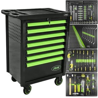 Carro de ferramentas com 7 gavetas verde JBM 53763