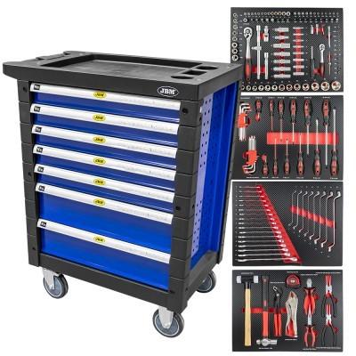 Carro de ferramentas com 7 gavetas azul JBM 53767
