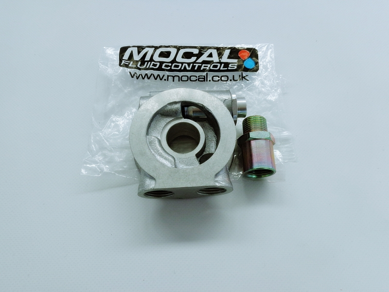 GENUINE MOCAL OIL COOLER SANDWICH PLATE WITH THERMOSTAT 3/4UNF