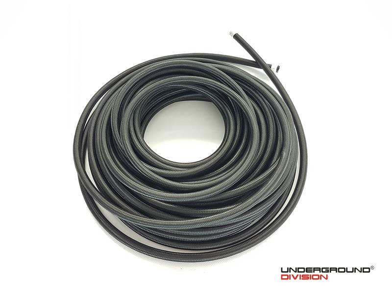 "AN -10 (14mm) 9/16"" Black Nylon Braided Fuel Hose 