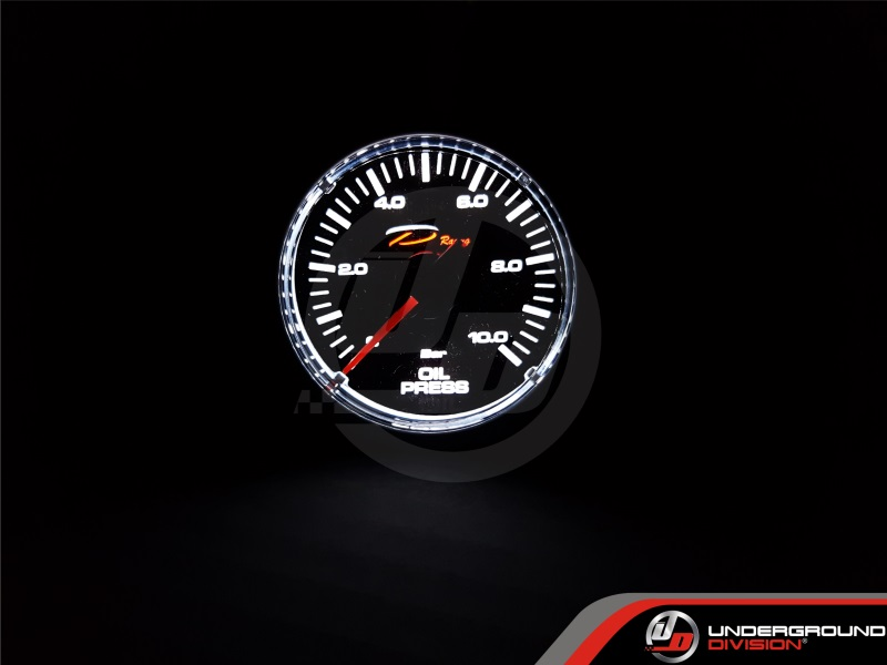 DEPO RACING CSM Series 52mm Oil Pressure Gauge (TRANSPARENT LENS)