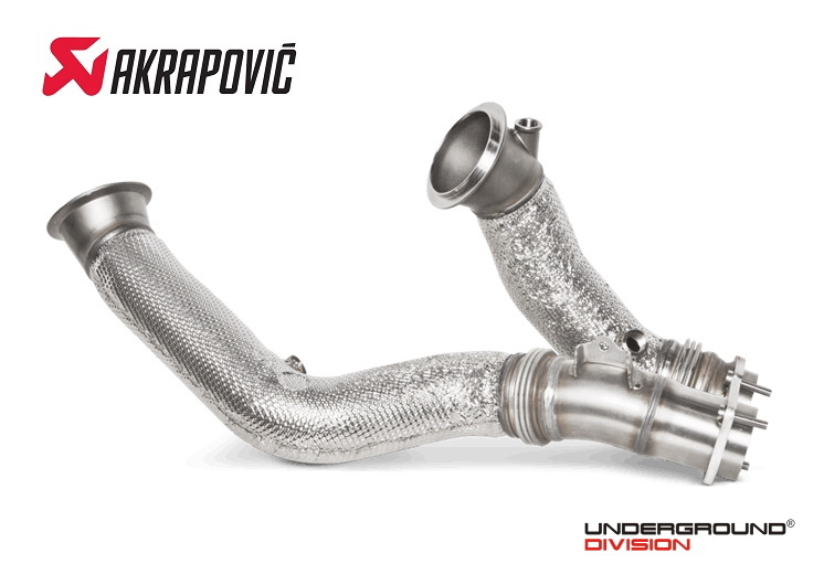 Decat Downpipes Akrapovic BMW M2 Competition / M3 F80 and M4 F82