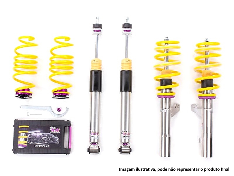 Coilovers KW V3 Inox Line for Audi S2 B4 (Lim. / Avant / Quattro) 09/91+