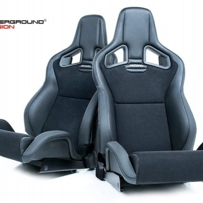 RECARO SPORTSTER CS 2x BUCKET SEAT Left & Right (UNIVERSAL) Ambla Leather/Dinamica Suede Black