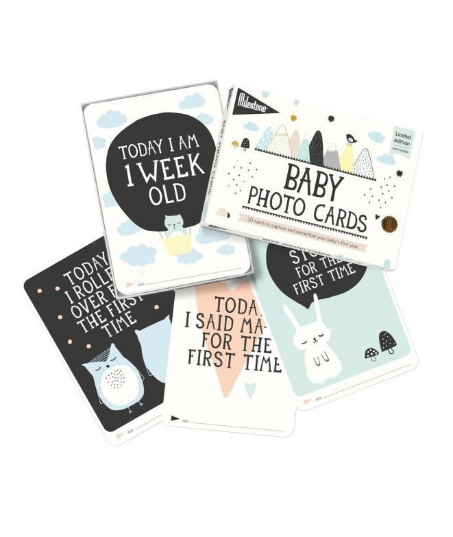 MILESTONE Baby Photo Cards - Over The Moon