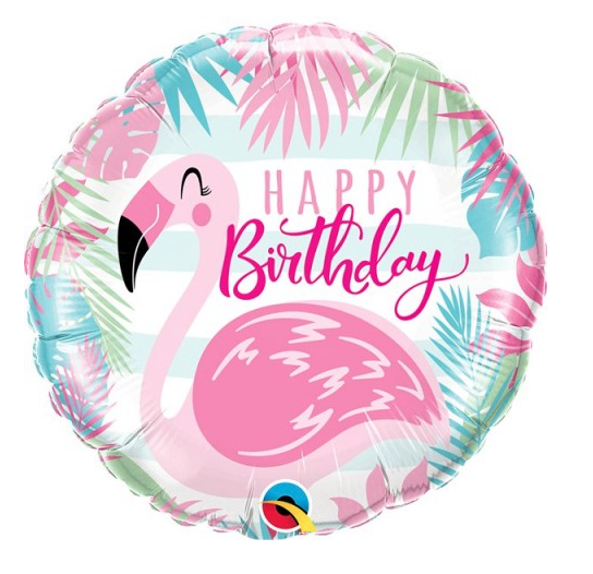 BALÃO HAPPY BIRTHDAY Flamingo