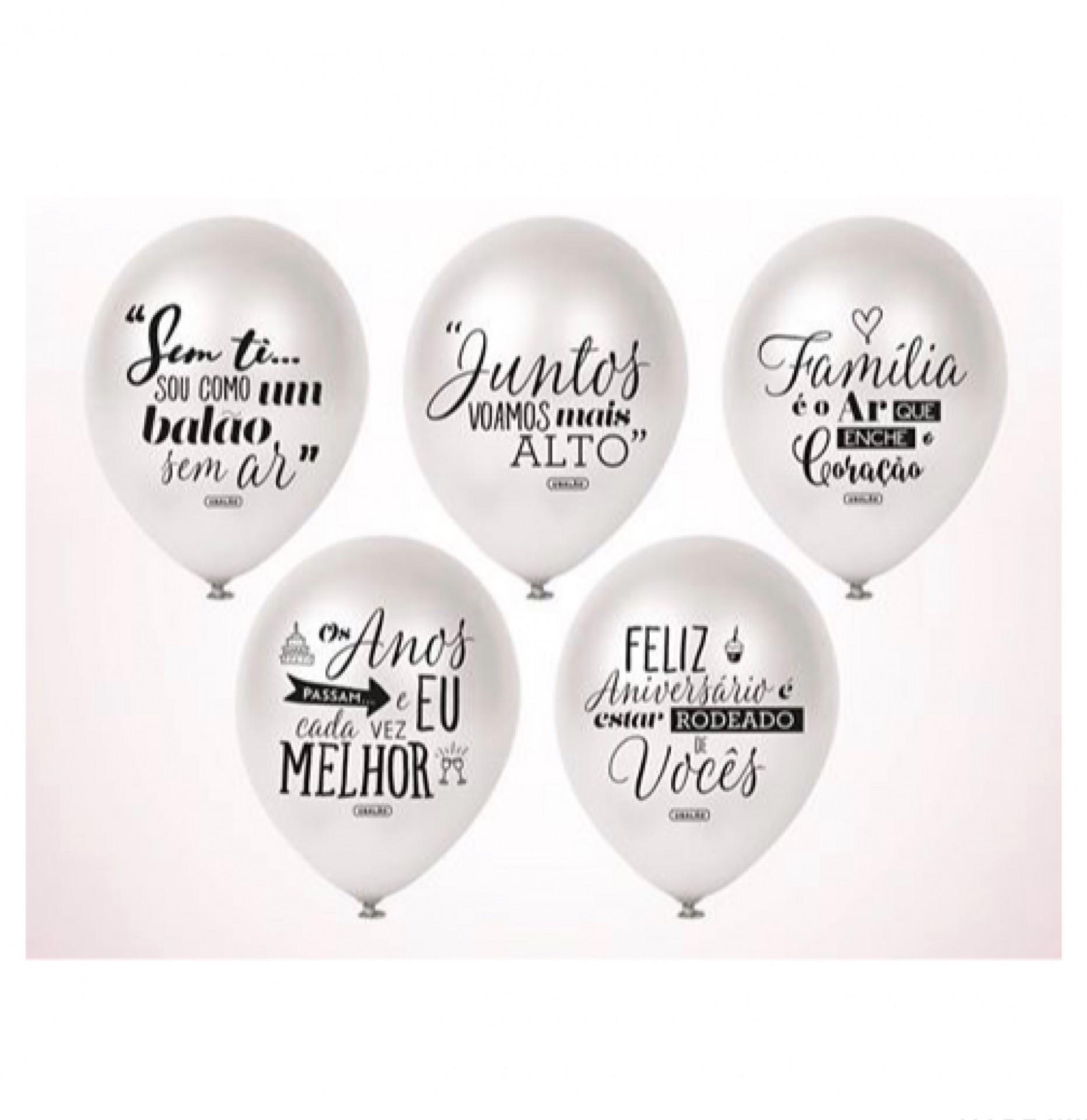 Balões Celebração PRATEADO