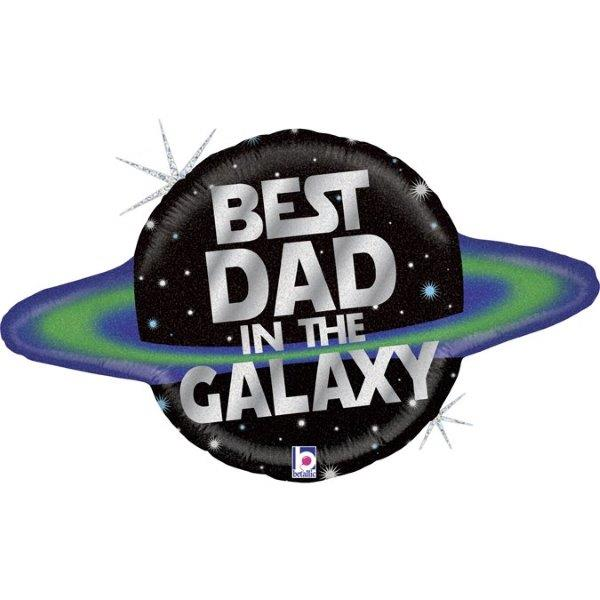 Balão BEST DAD IN THE GALAXY -  DIA DO PAI