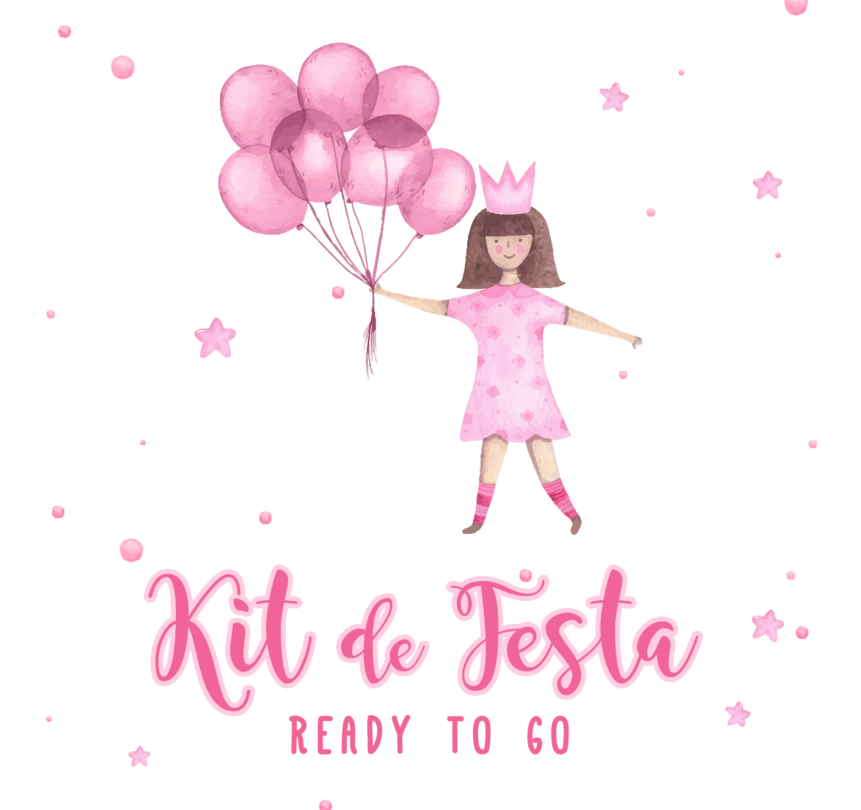 Kit de Festa READY TO GO - PRINCESA AGUARELA