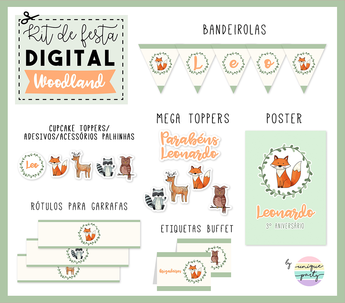 Kit DIGITAL - READY TO PRINT - WOODLAND