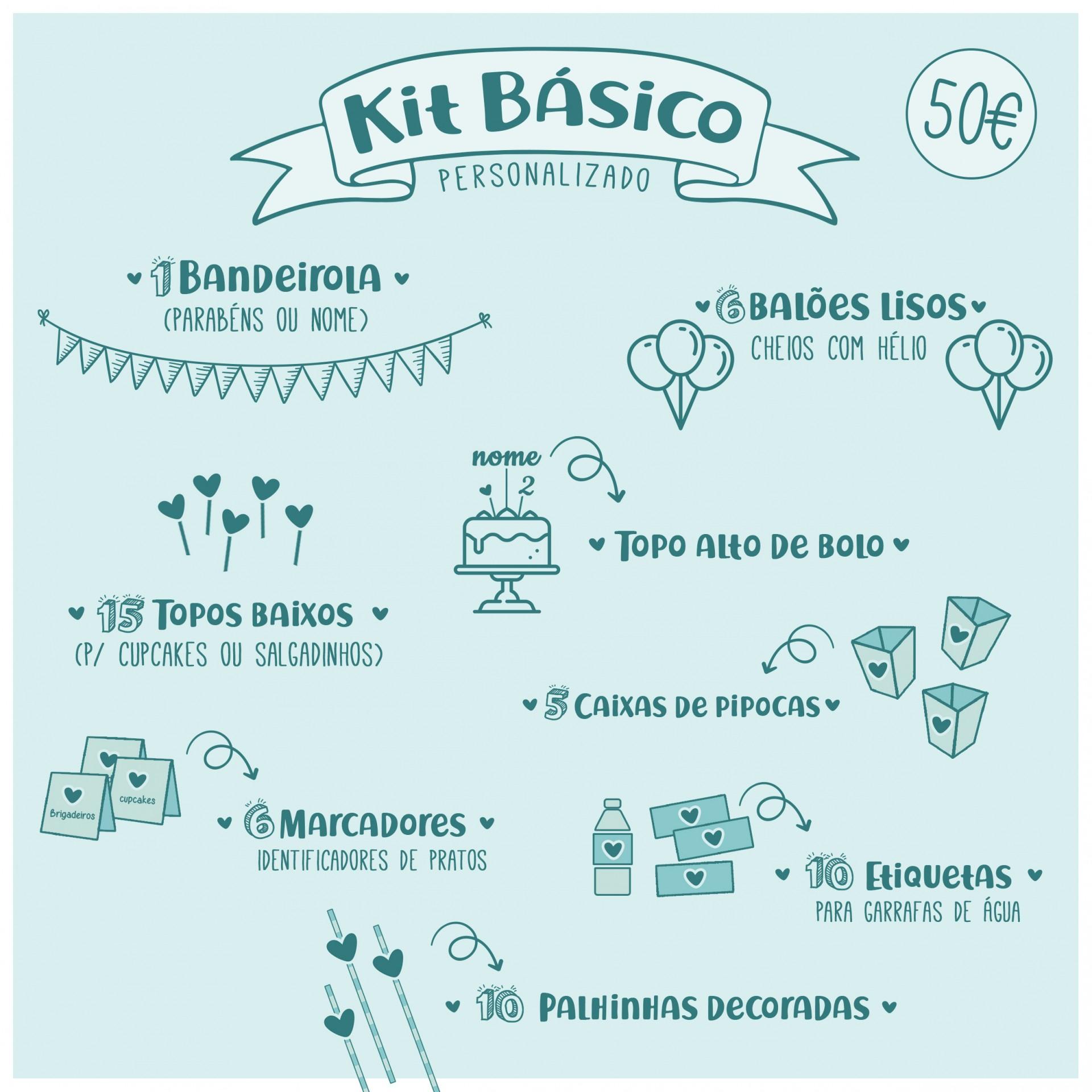 Kit de Festa Personalizado - KIT BÁSICO