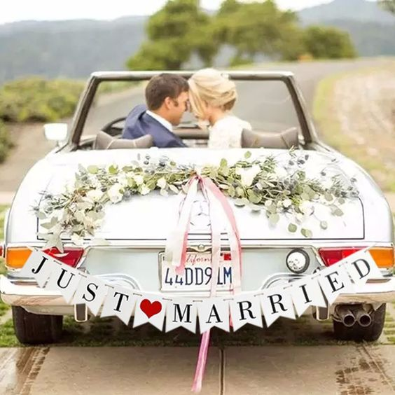 Bandeira JUST MARRIED