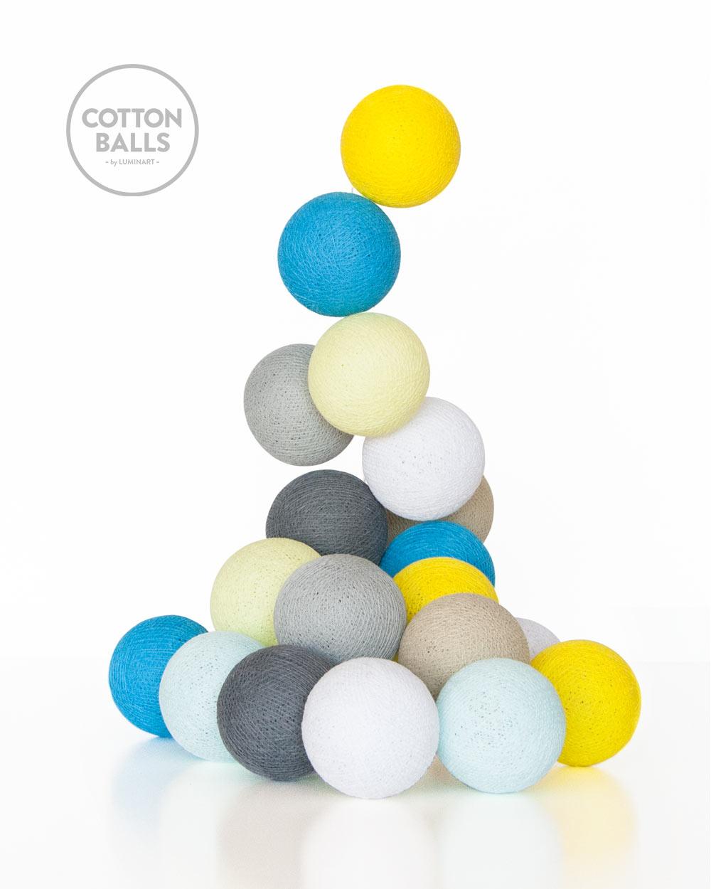 GRINALDA COTTON BALLS SunnyTurquoises 10 BOLAS