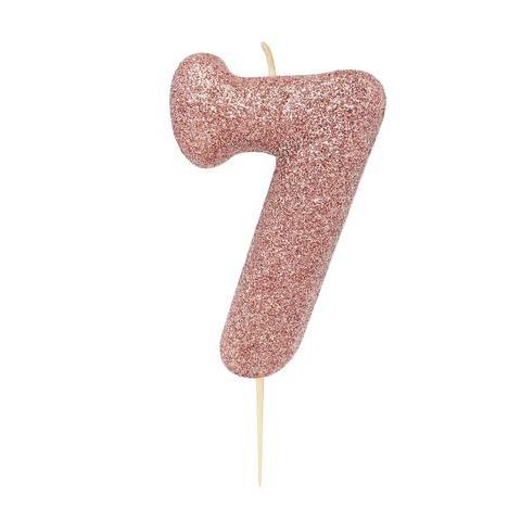 Velas Nº7 GLITTER ROSE GOLD
