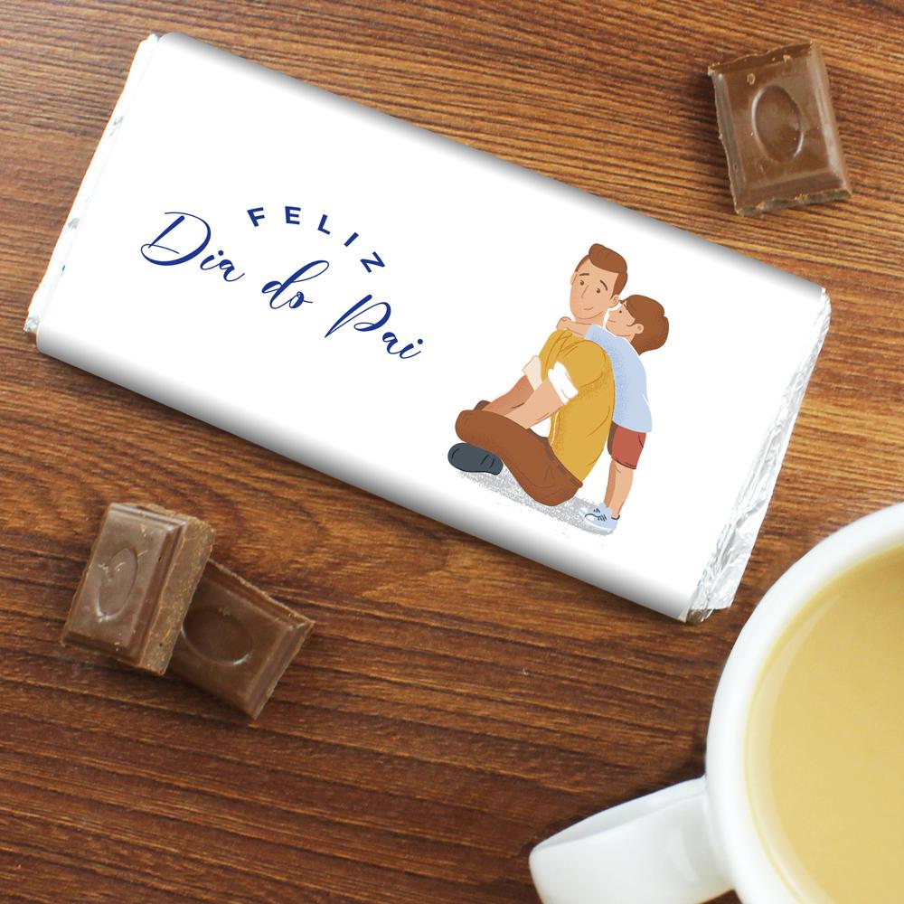 CHOCOLATE DIA DO PAI com MENINO