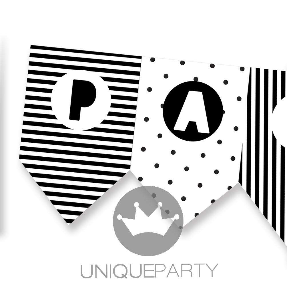Bandeira Black & White
