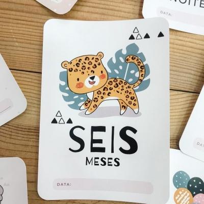 MILESTONE Baby Photo Cards - ANIMAIS DA SELVA