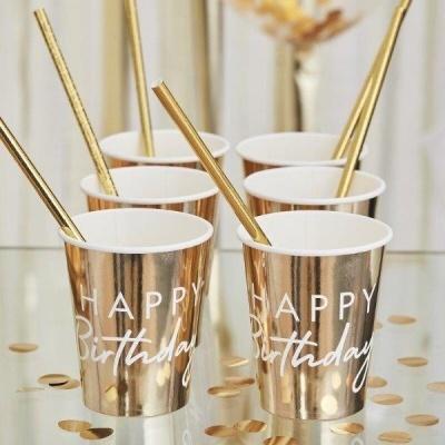 Copos  HAPPY BIRTHDAY GOLD