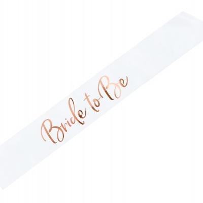 """Faixa """"BRIDE TO BE"""" Rose Gold"""