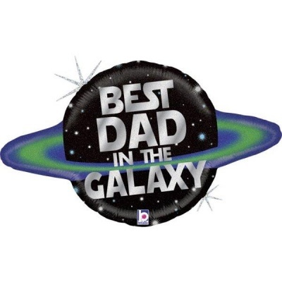 Balão BEST DAD IN THE GALAXY -  DIA DO PAI