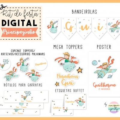 Kit DIGITAL - READY TO PRINT - PRINCIPEZINHO