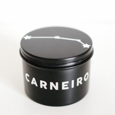 Vela do Zodíaco - Signo Carneiro com cristal Serpentinita